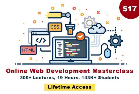 Online Web Development Master Class- Featured Image