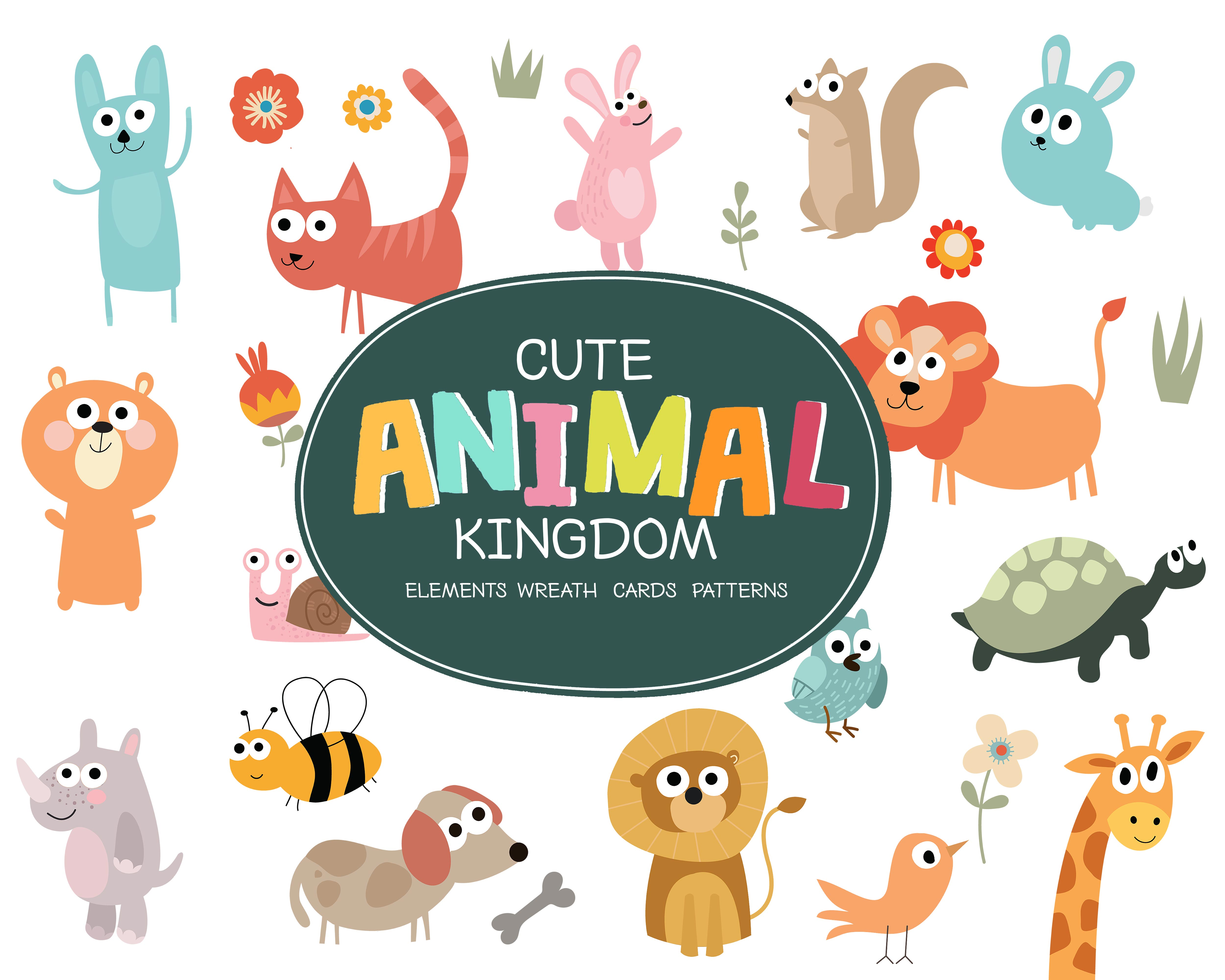 The Tiny Joy Kids Vector Bundle - Cute Animals