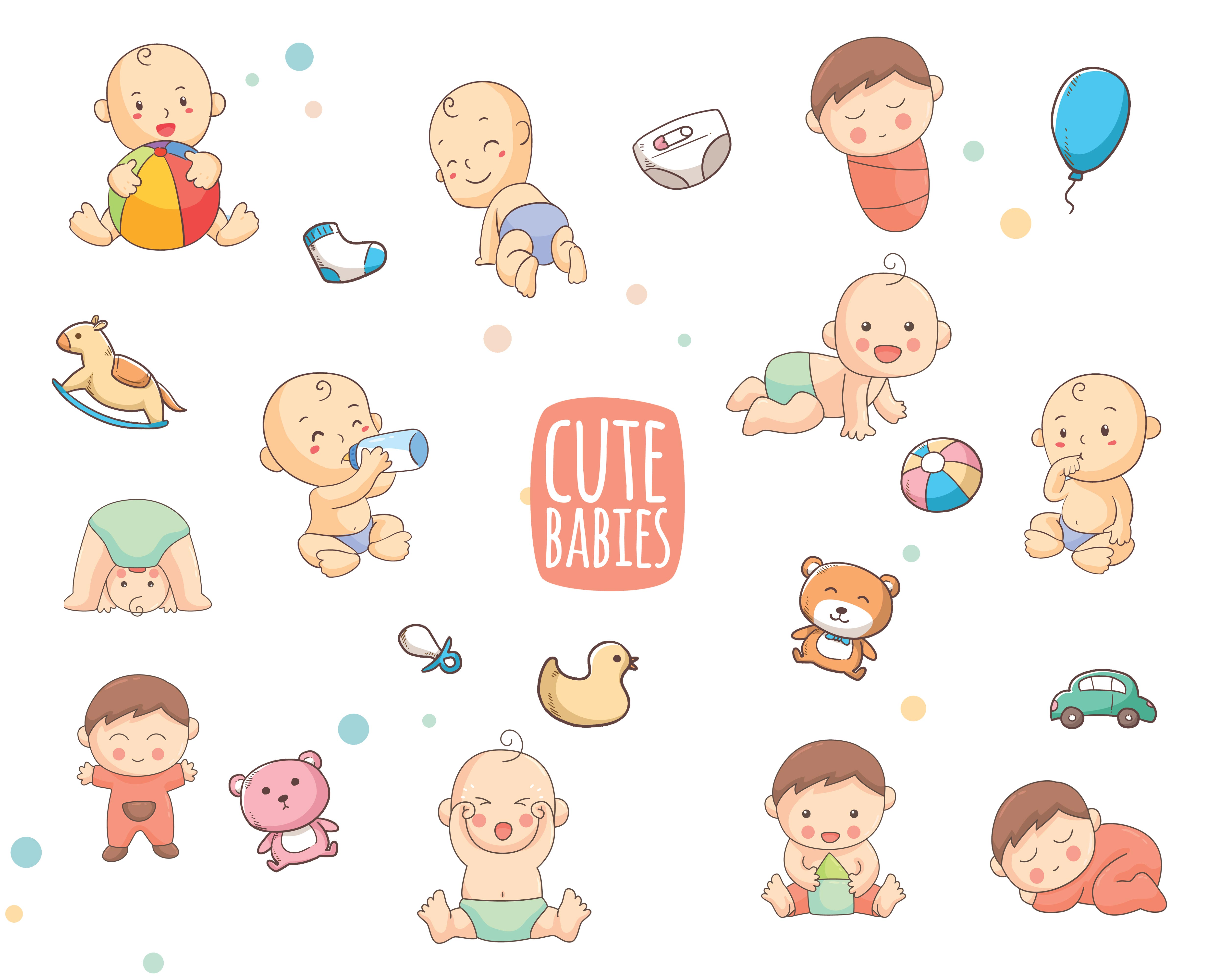 The Tiny Joy Kids Vector Bundle - Cute babies