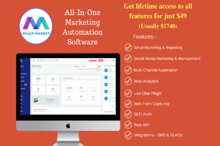 MaaxMarket - -An All-in-1 Digital Marketing Automation Software For A LIFETIME