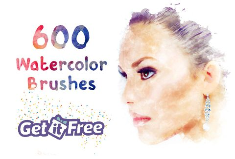 Bundle Of 600 Beautiful Watercolor Brush Strokes For Free