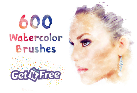 Bundle Of 600 Beautiful Watercolor Brush Strokes For Free