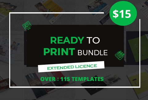 115 Ready To Print Templates Bundle