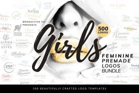500 Girls Feminine Premade Logos Bundle - DealClub Deal