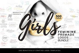 500 Girls Feminine Premade Logos Bundle - DealClub Deal