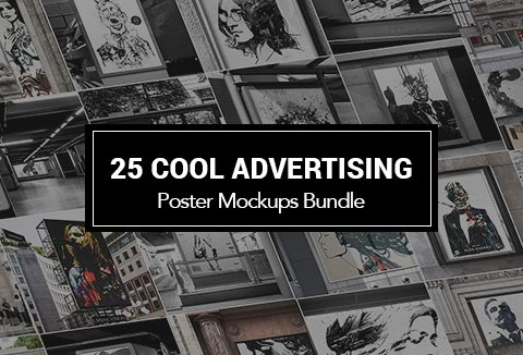 25 Cool Advertising Poster Mockups Bundle