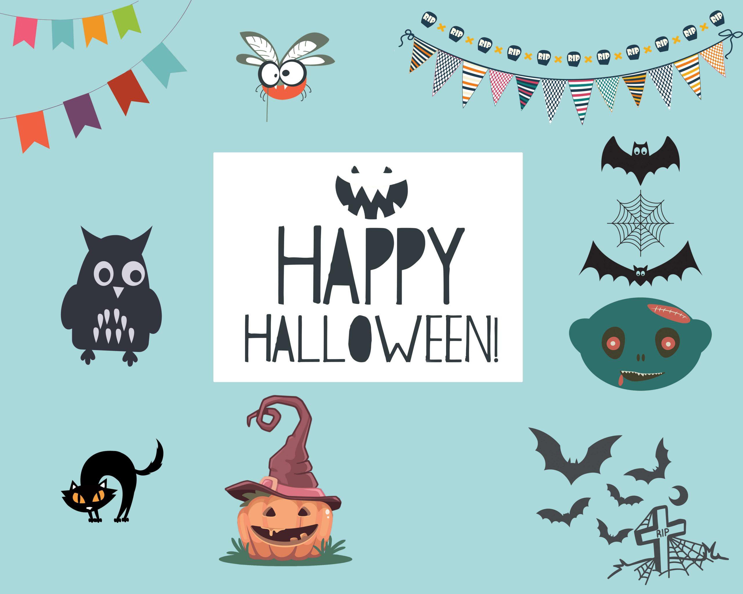 Spooky Vector Images - Halloween Bundle 2018