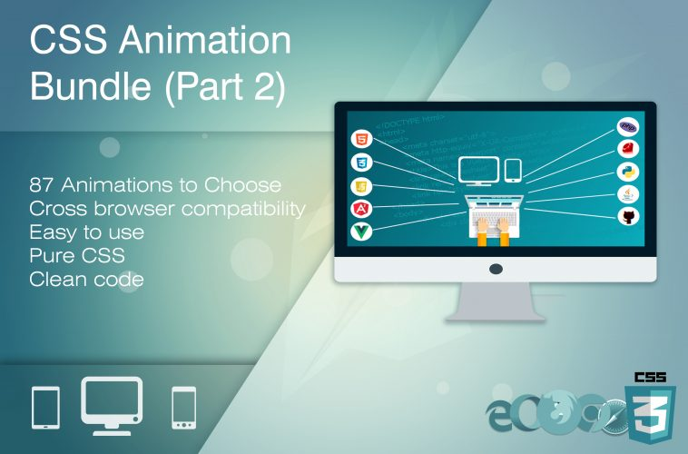 HTML & CSS Animation Bundle (Part 2) With 87 Mind-Blowing Animation Effects