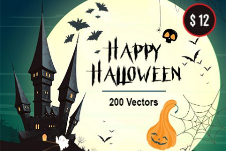 The Halloween Bundle 2018 Of 200 Vector Images