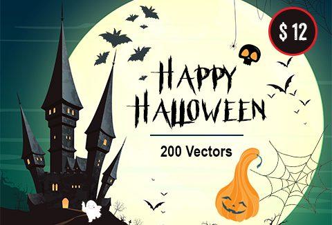 The Halloween Bundle 2018 Of 200 Vector Images