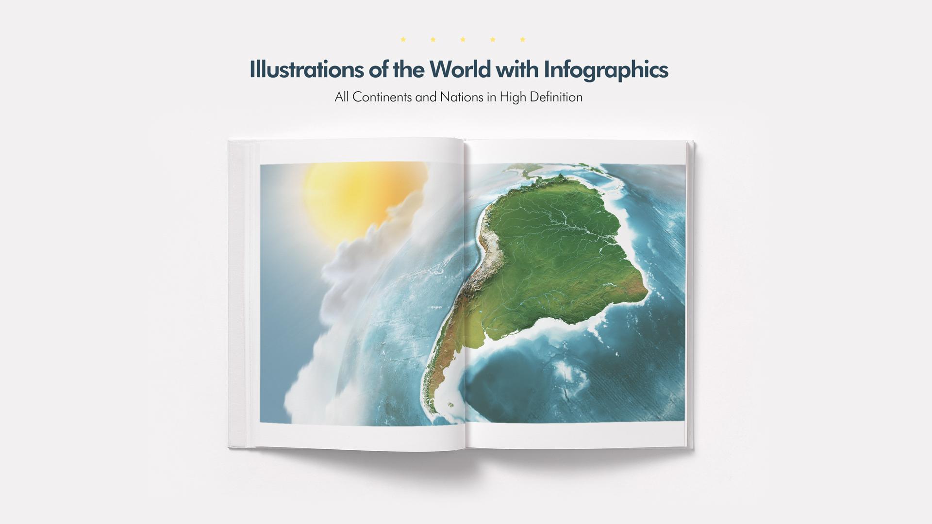 3D World Map Graphics Bundle- Preview 19