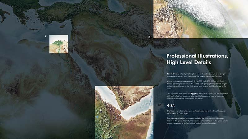 3D World Map Graphics Bundle-Details