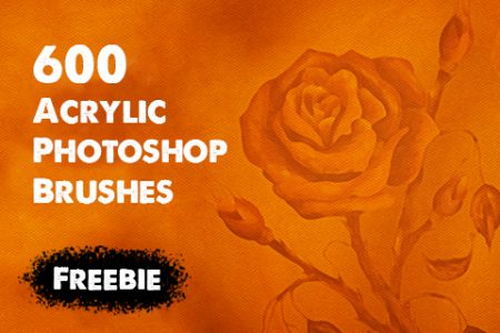 600 Acrylic Photoshop Brushes for FREE