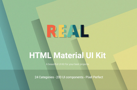 Real HTML Material Design UI Kit Image