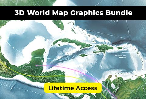 3D World Map Graphics Bundle