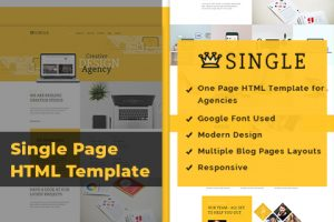 Single Page HTML Template For Agencies, Start-ups, IT Firms & Business