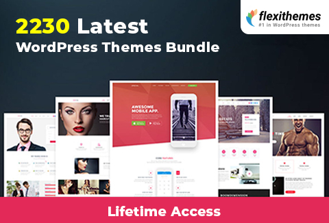 Latest WordPress Themes Bundle Of 2230+ WP Themes | LIFETIME Access