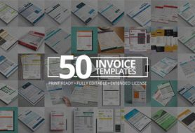 Modern Invoice Template Bundle - 50 Print-Ready, Fully Editable Invoices