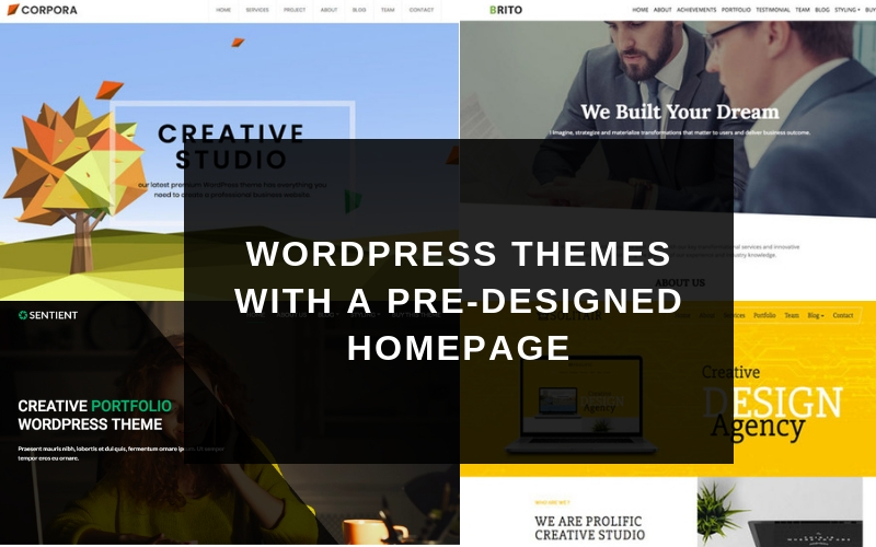 7 WordPress Themes With a Pre-designed Homepage