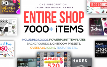 Lifetime Access To The Entire Shop With 7000+ Creative Graphics Items
