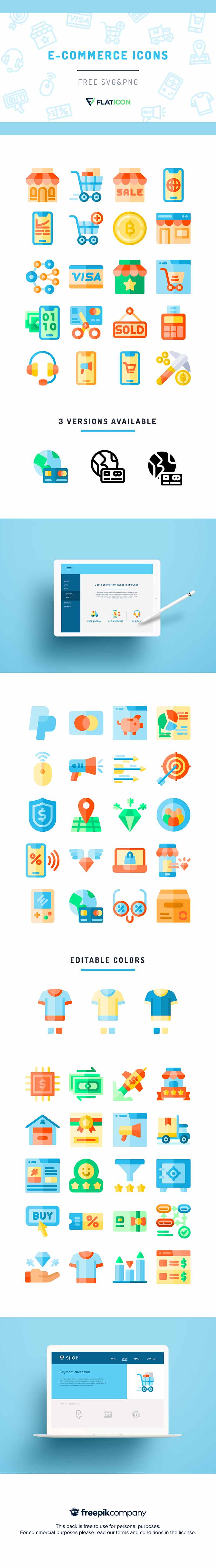 FREE eCommerce Icons Bundle For Instant Download | DealFuel