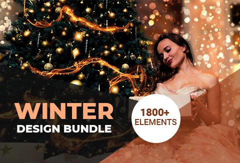 Winter Design Bundle Of 1800+ Elements