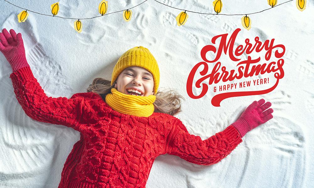 50 Photo & Text Overlays Bundle - Merry Christmas & New Year