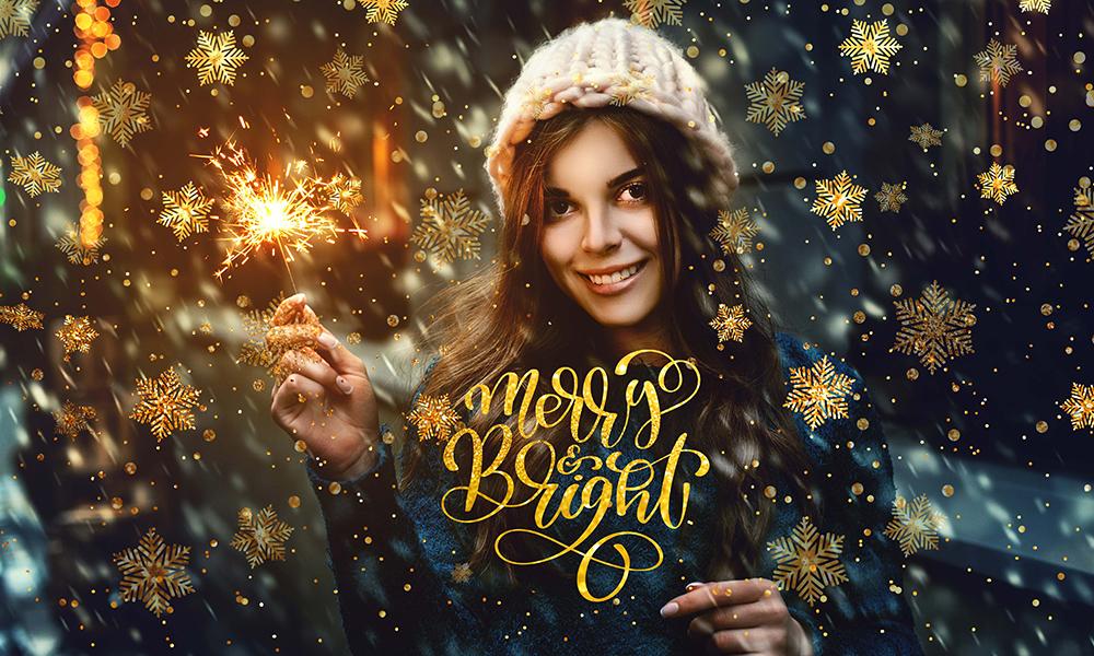 50 Photo & Text Overlays Bundle - Merry & Bright