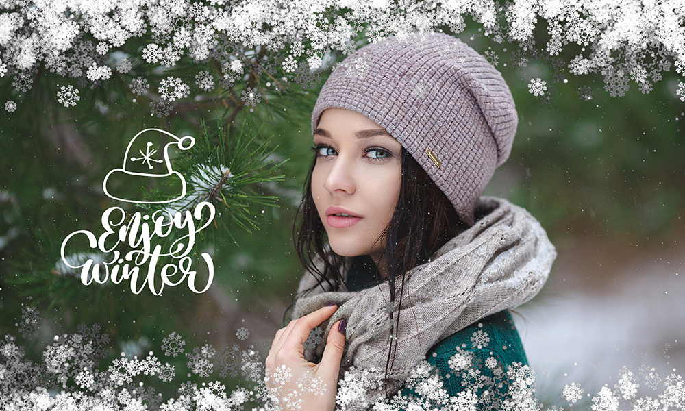 50 Photo & Text Overlays Bundle - Enjoy Winter