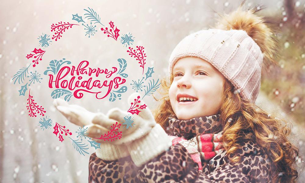 50 Photo & Text Overlays Bundle - Happy Holidays