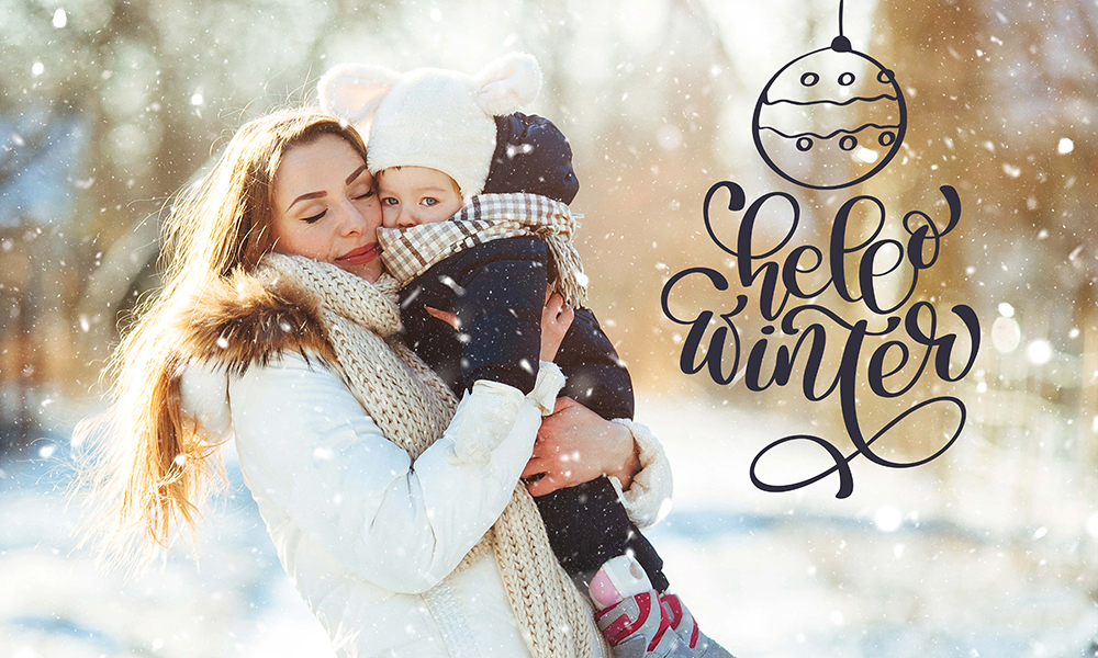 50 Photo & Text Overlays Bundle - Hello Winter