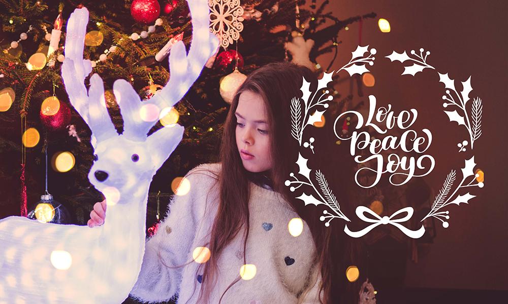 50 Photo & Text Overlays Bundle - Love Peace Joy