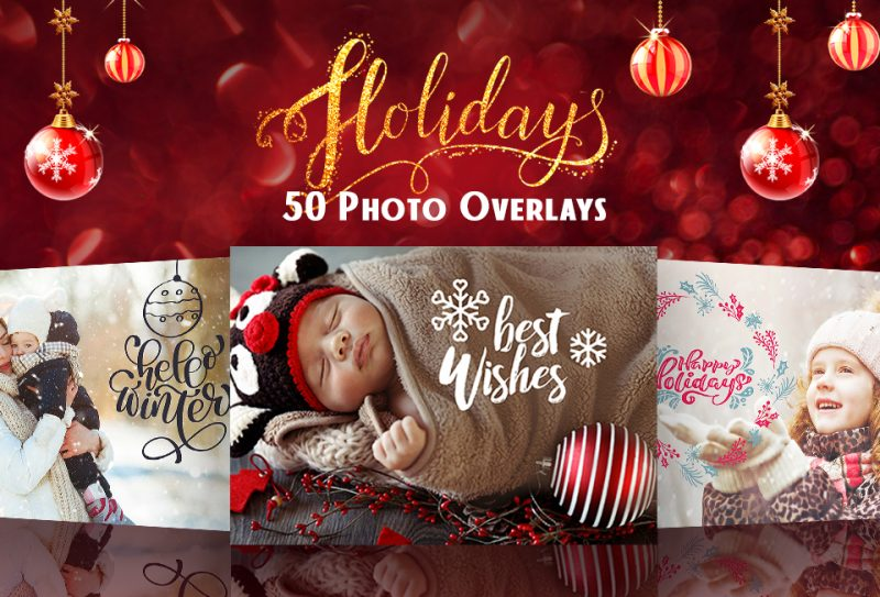 50 Exclusive Holiday Photo Text Overlays For FREE...