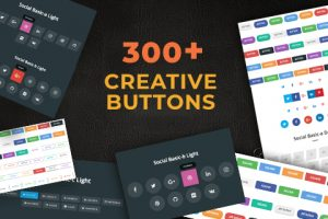 300+ Creative Buttons With Hover & Click Effects In CSS3