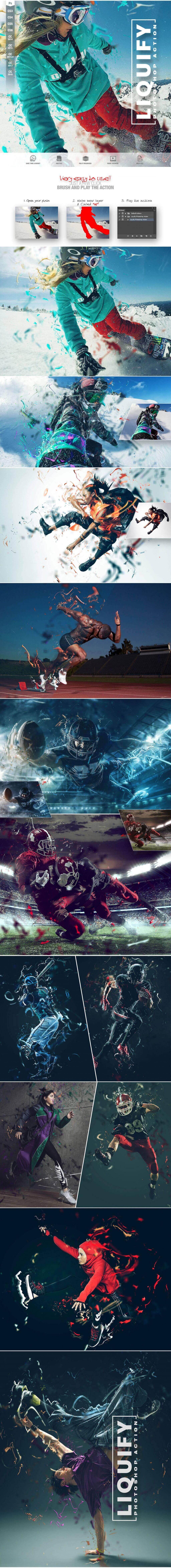 Liquify Photoshop Action CS3 Design