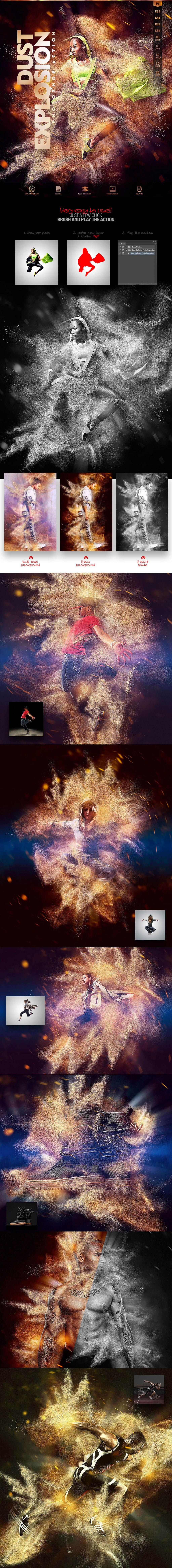 Dust Explosion Photoshop Action CS3 Design