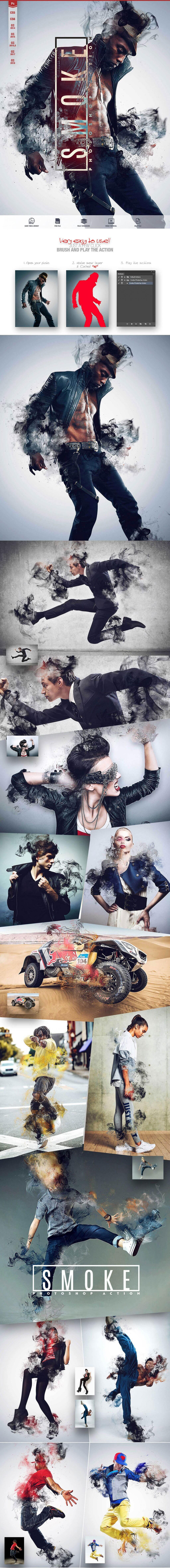 Smoke Photoshop Action CS5 Design