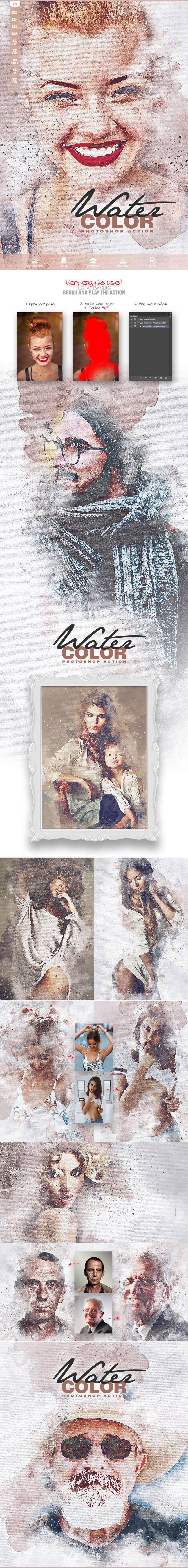 Watercolor Photoshop Action CS3 Design