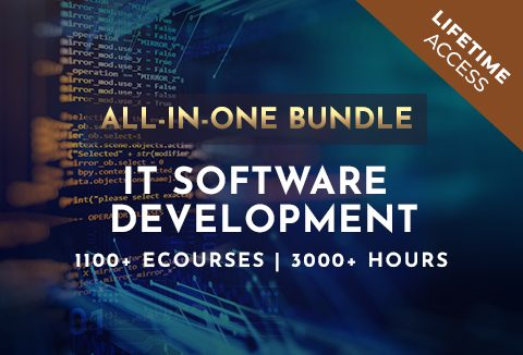 IT Software Development All-In-One Bundle With 1100+ eCourses | Lifetime