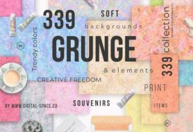 Grunge Backgrounds Collection Of 339 Soft Trendy Textures & Elements