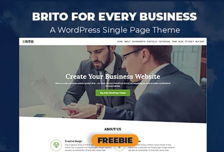 Brito - A Single Page WordPress Theme For Your Business