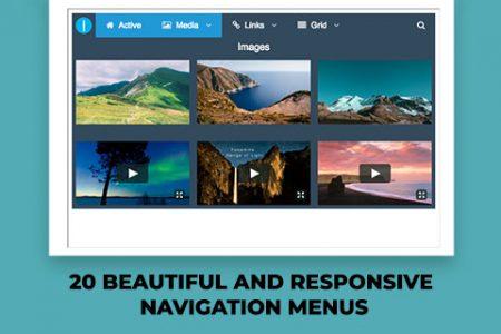 20 Beautiful and Responsive Navigation Menus
