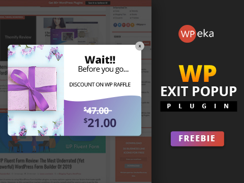 WP Exit Pop Up - An Advanced WordPress Exit Intent Pop Up Plugin