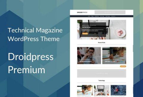 Droidpress-Premium WordPress Technical Magazine Theme