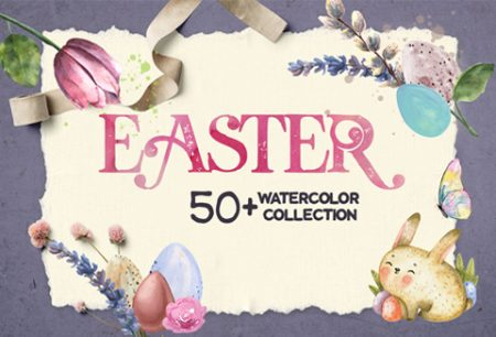 Easter Watercolor Collection For FREE