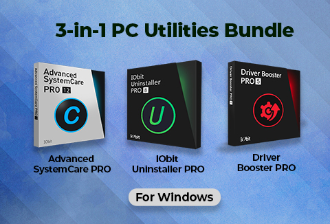 3-in-1 Best PC Utilities Bundle For Windows By IObit