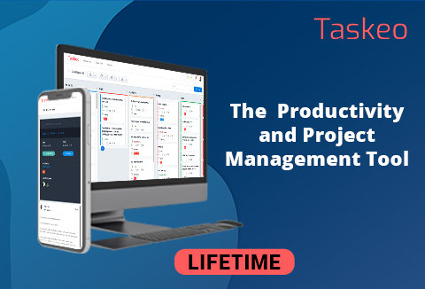 Taskeo - A Project Management & Productivity Tool For You & Your Team | Lifetime