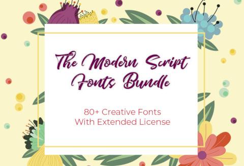 DealFuel - The Modern Script Fonts Bundle With 80+ Elegant Fonts