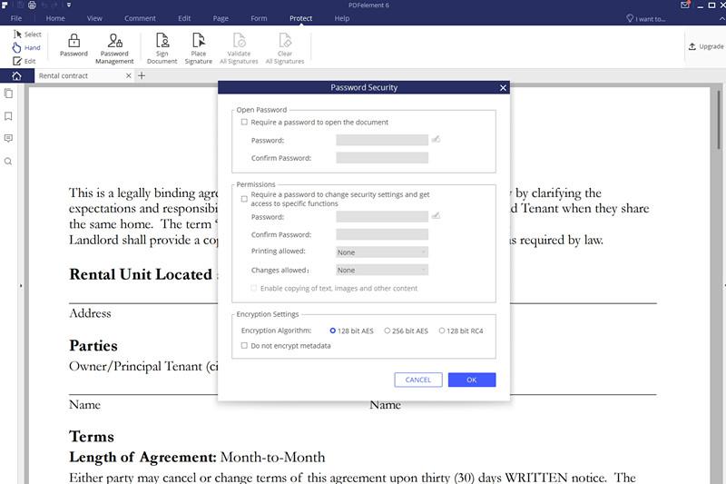 PDFelement PDF Editor - Protect