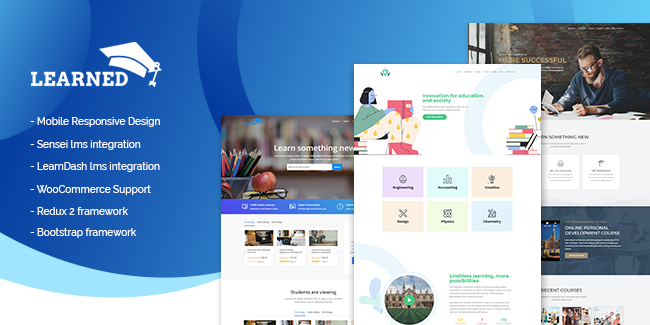 Learned WordPress Education Theme